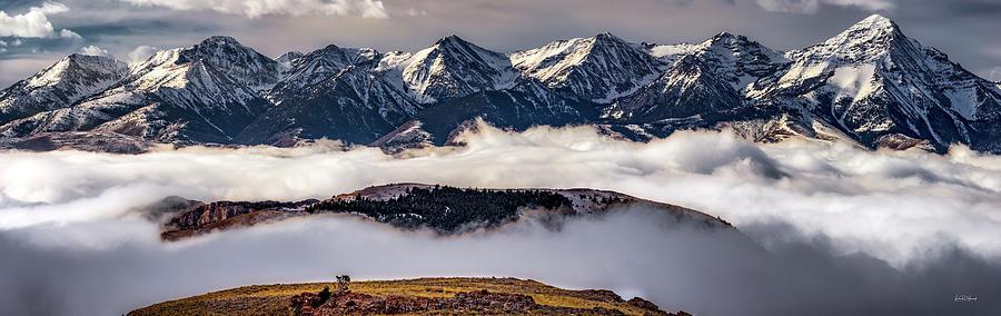 Nature Photograph - Lemhi Peaks by Leland D Howard
