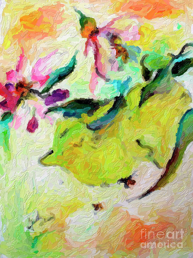 Lemons Digital Impressionism  by Ginette Callaway