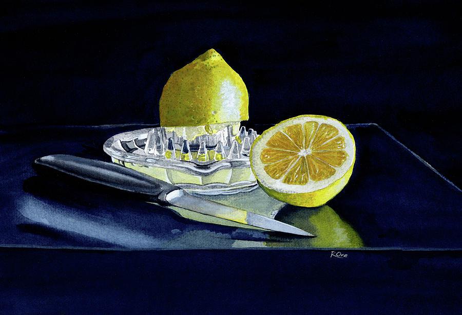 Lemons Painting - Lemons Still Life by Raymond Ore