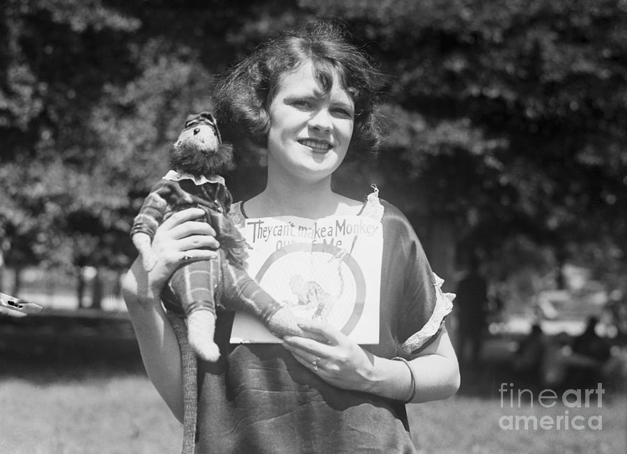 Lena Ruffner With Monkey Doll Photograph by Bettmann