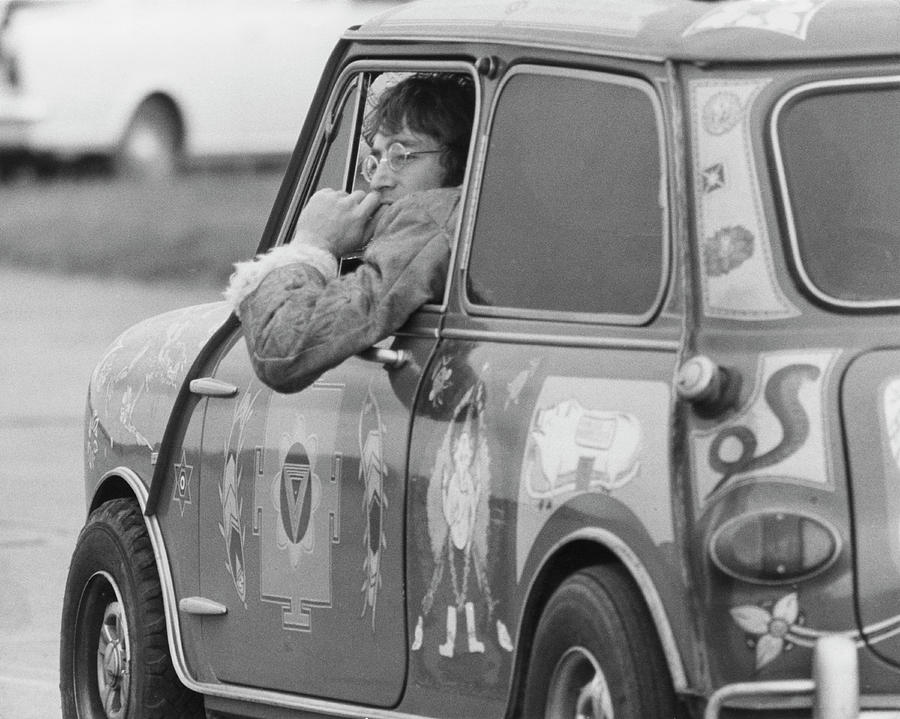John Lennon Photograph - Lennon In Mini by Keystone Features