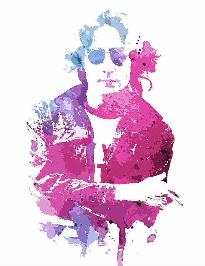 Lennon Watercolor Splatter by Dan Sproul