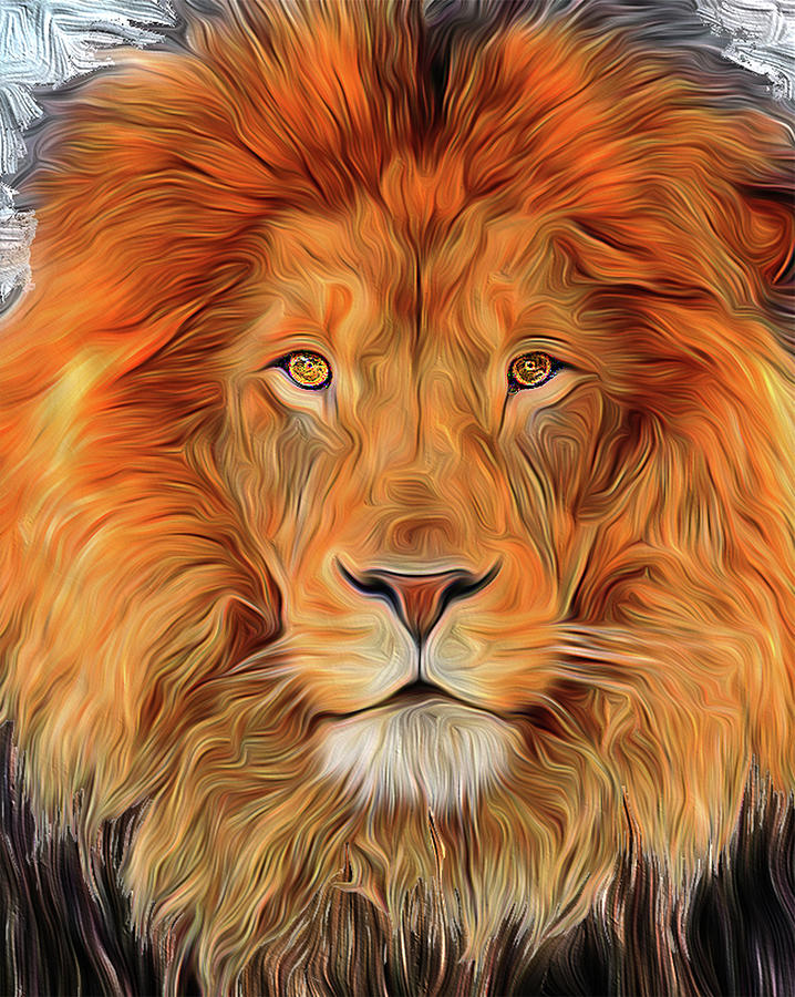 Lions Digital Art - Leo 2b by Bruce IORIO