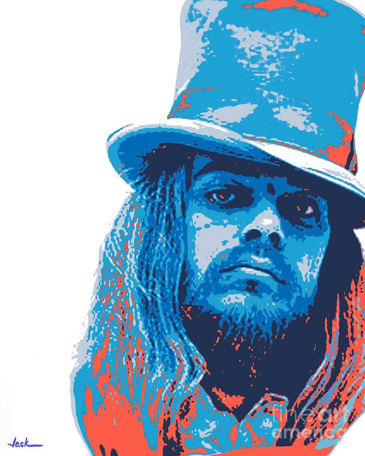 Leon Russell Painting - Leon Russell by Jack Bunds