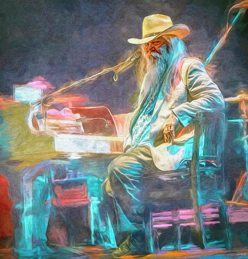 Leon Russell Mixed Media - Leon Russell by Mal Bray