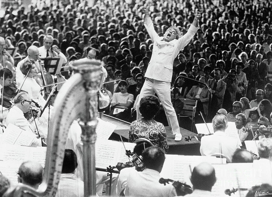 Leonard Bernstein Conducting Boston Photograph by Bettmann