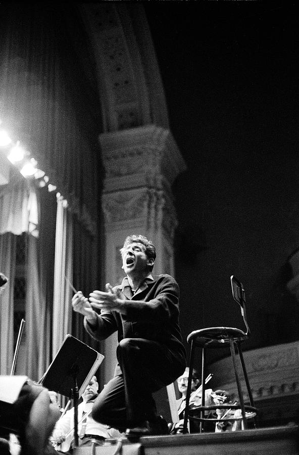 Leonard Bernstein Conducting Mahlers Photograph by Alfred Eisenstaedt