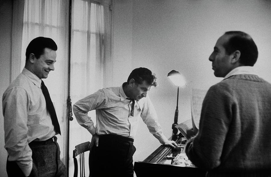 Leonard Bernsteinjerome Robbinsstephen Photograph by Alfred Eisenstaedt