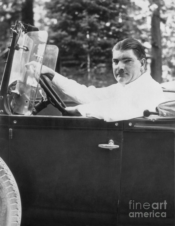 Leonard Kip Rhinelander Seated In Car Photograph by Bettmann