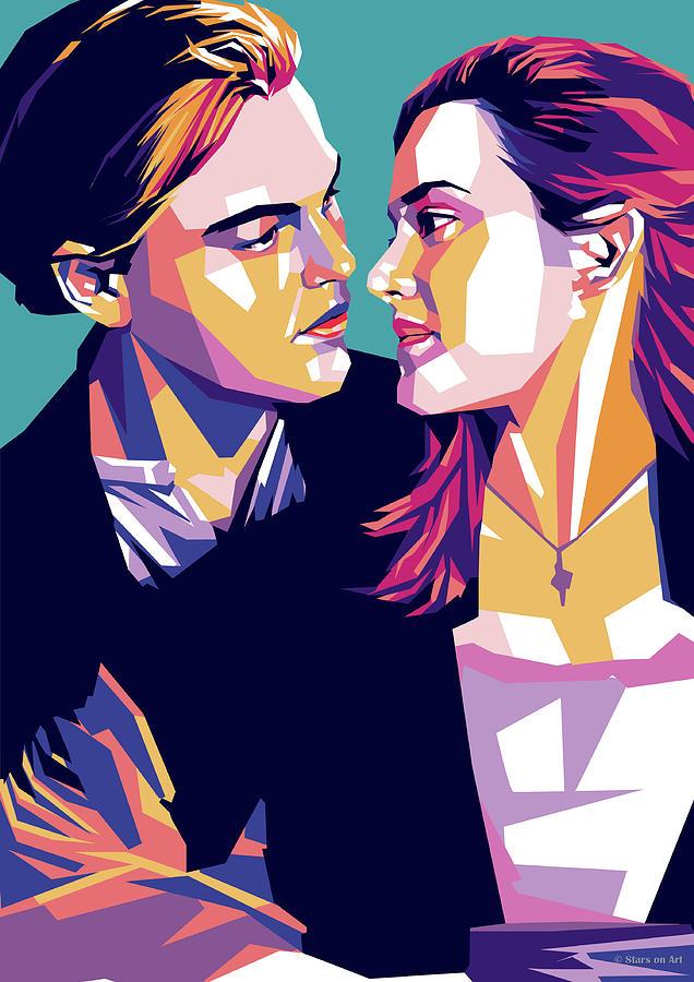 Leonardo Dicaprio And Kate Winslet Digital Art