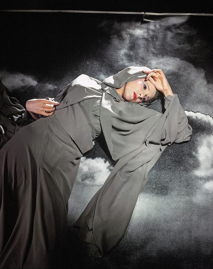 Leonora Corbett Wearing Mainbocher Photograph by Horst P. Horst
