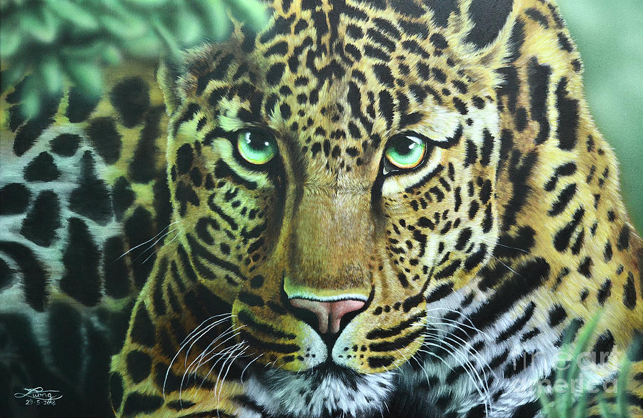Acrylic Painting - Leopard by Elise Wong