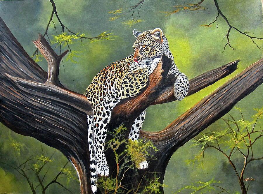 Leopard in a Tree by Wycliffe Ndwiga