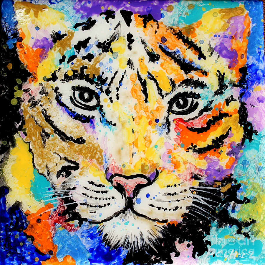 Leopard on 6x6 tile by Pechez Sepehri