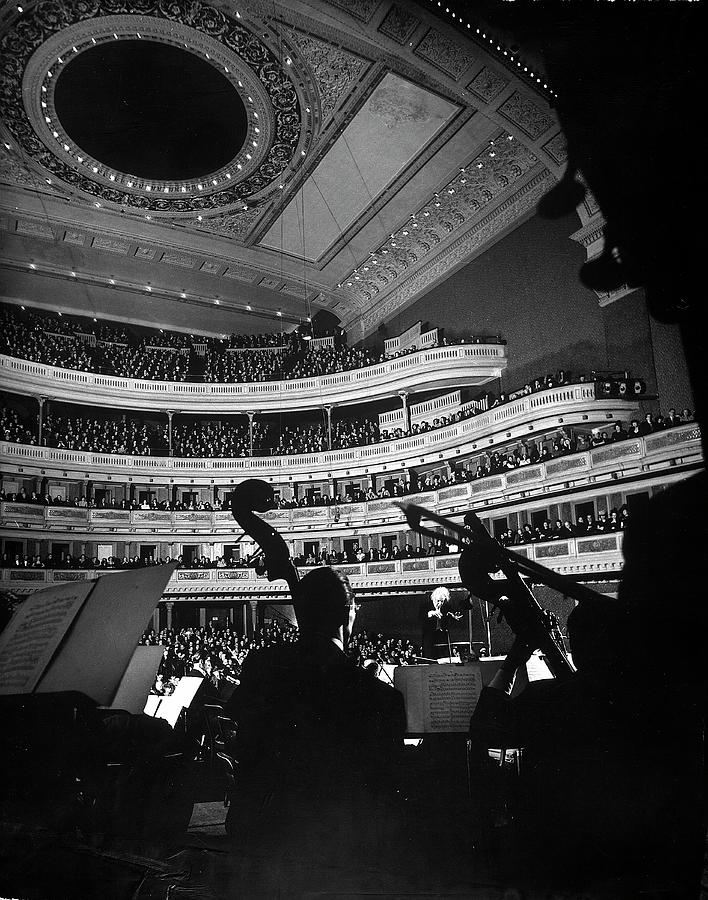 Leopold Stokowski Conducting The New Photograph by Gjon Mili