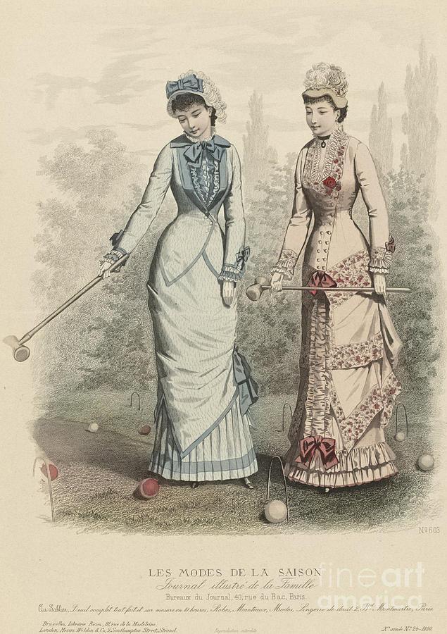Les Modes De La Saison Drawing by Heritage Images