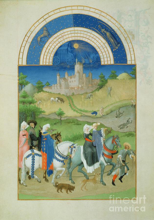 Les tres riches heures du Duc de Berry - The Month of August by Anonymous