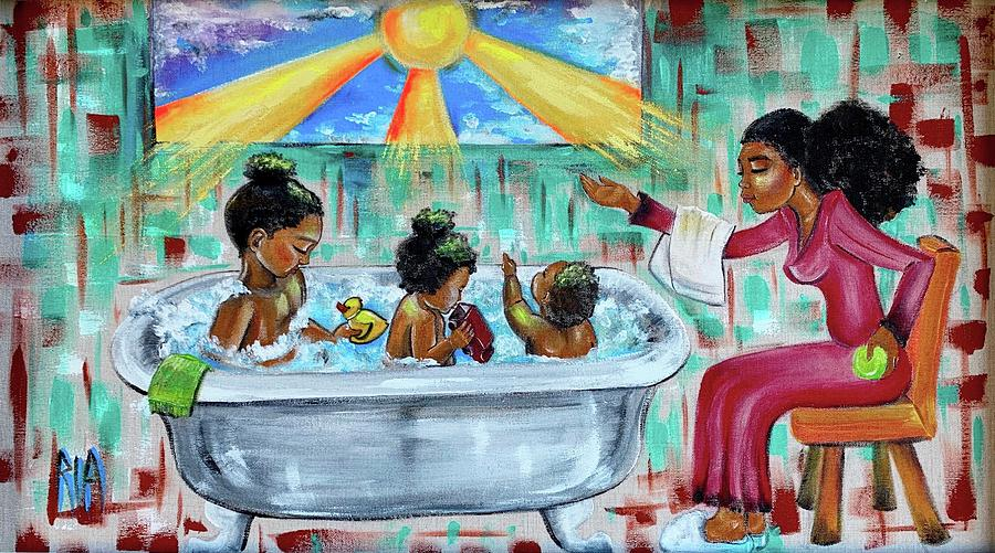 Mother Painting - Lessons From Mommy by Artist RiA