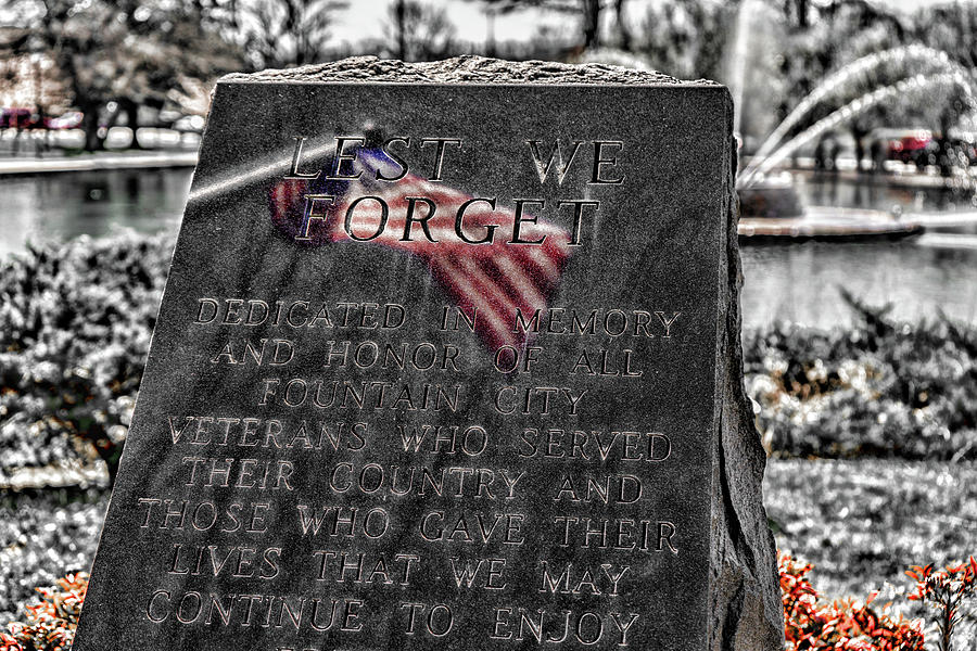 Lest We Forget by Sharon Popek