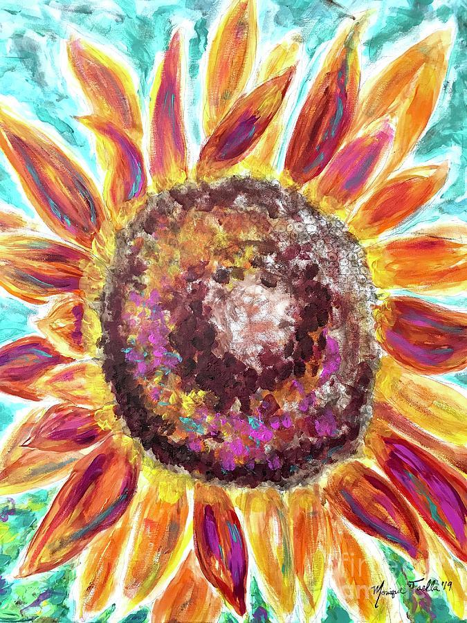 Sunflower Mixed Media - Let It Shine by Monique Faella