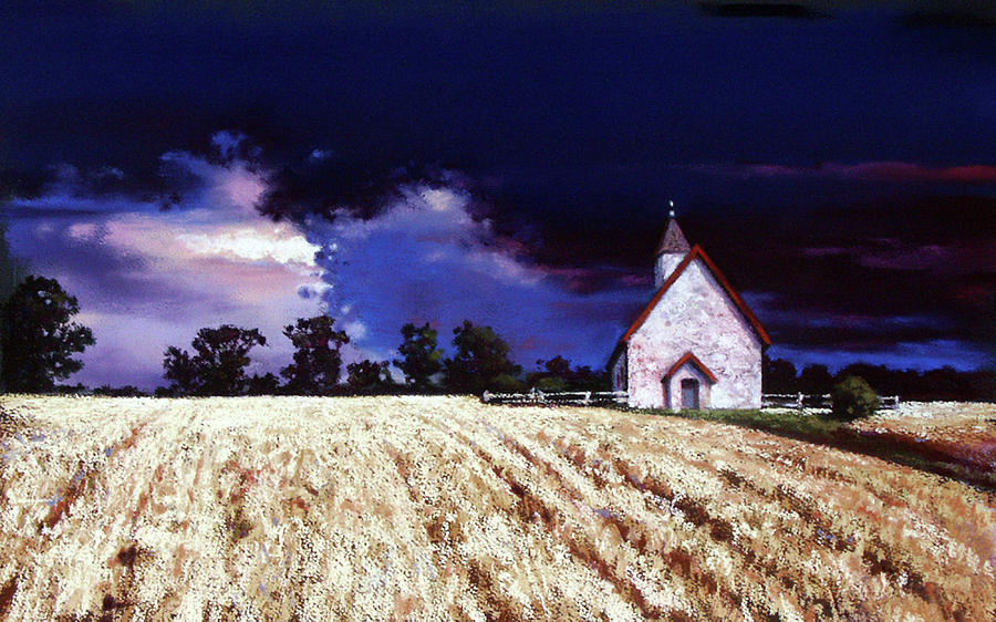 Church Pastel - Let There Be Light by Dianna Ponting