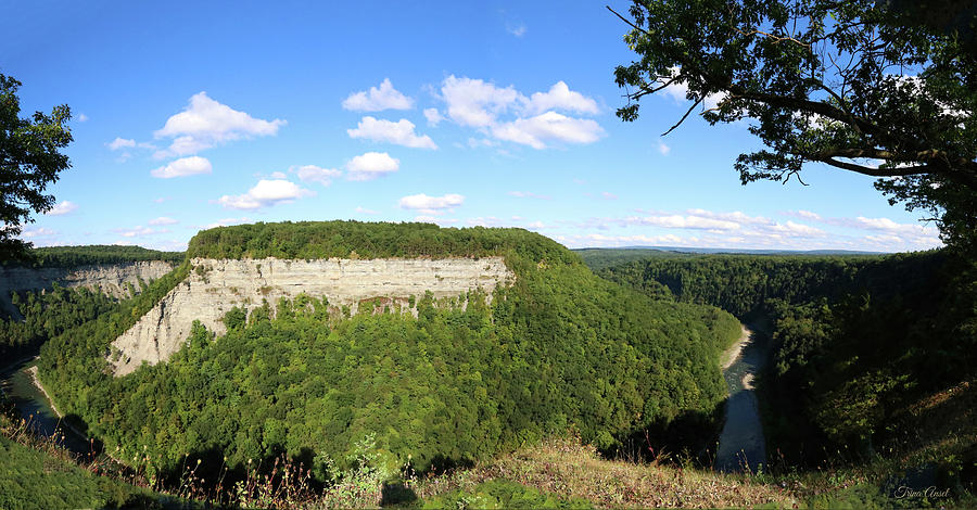 Letchworth State Park Panoramic View by Trina Ansel