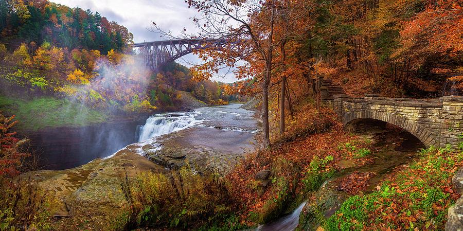 Letchworth Upper Falls Top by Mark Papke