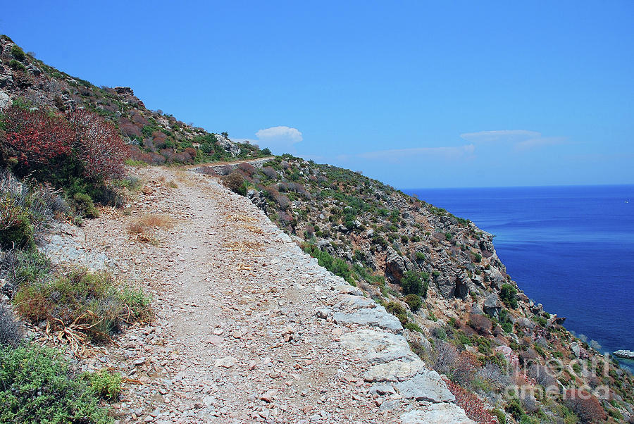 Lethra path on Tilos island by David Fowler