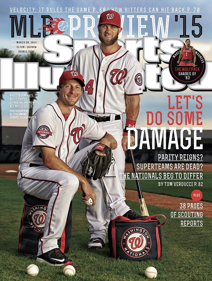 Lets Do Some Damage 2015 Mlb Baseball Preview Issue Sports Illustrated Cover Photograph by Sports Illustrated