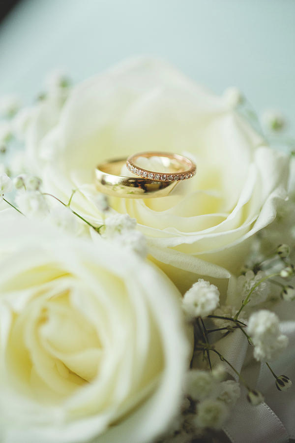 Wedding Bands Photograph - Lets Get Married by Angie Gonzalez