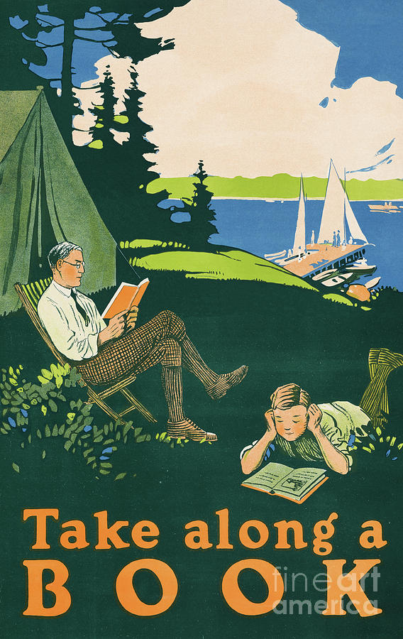 Let's go camping and read a book by Aapshop
