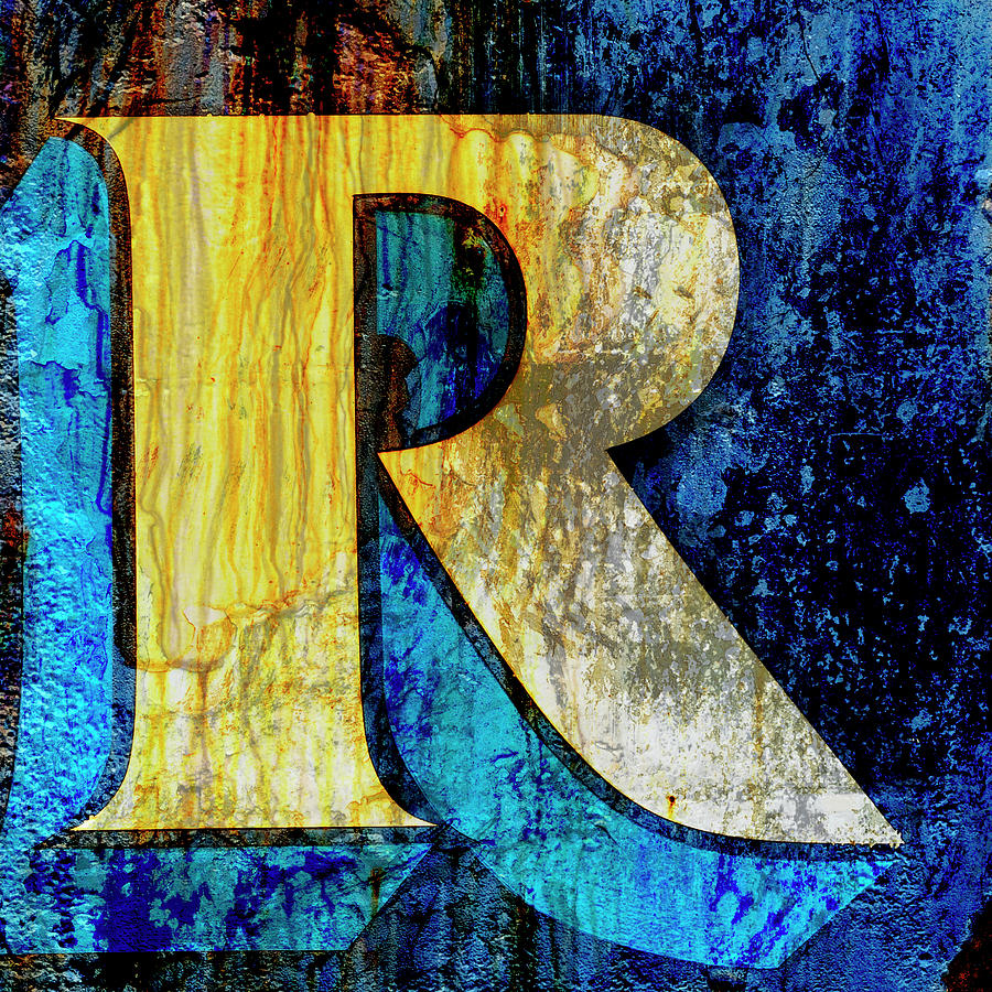 Carol Leigh Mixed Media - Letter R by Carol Leigh
