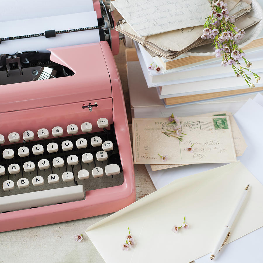 Letters By Antique Typewriter Photograph by Tetra Images