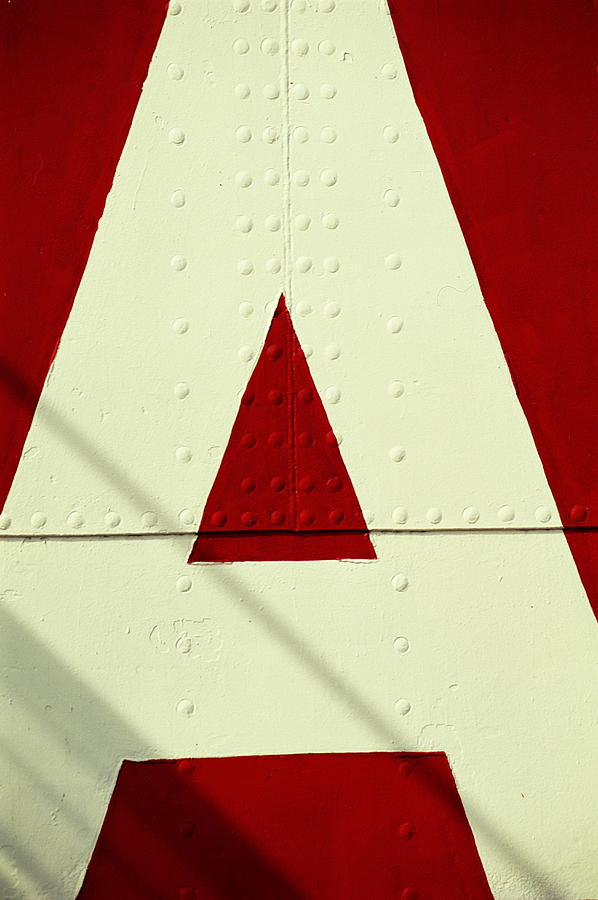 Letters On Lightship, Detail Photograph by Harvey Lloyd