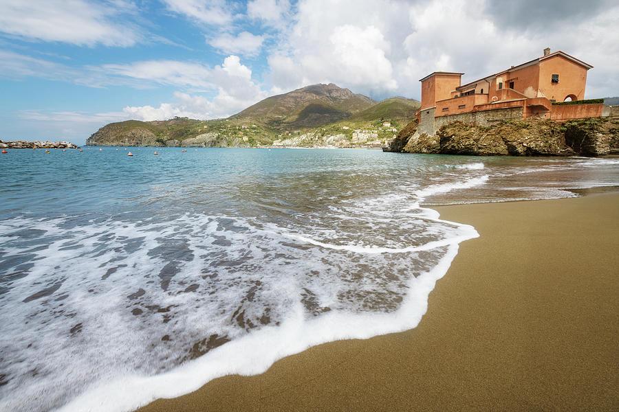 Levanto Cinque Terre Italy Beach by Joan Carroll