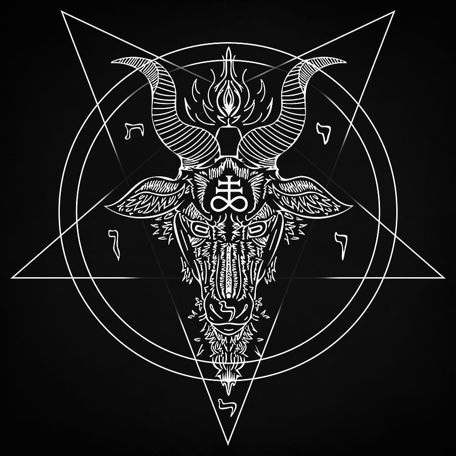 Leviathan Digital Art - Leviathan Pentagram  by Zapista Zapista