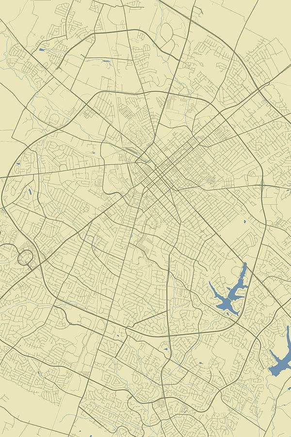Lexington Kentucky Usa Classic Map Digital Art by Jurq Studio