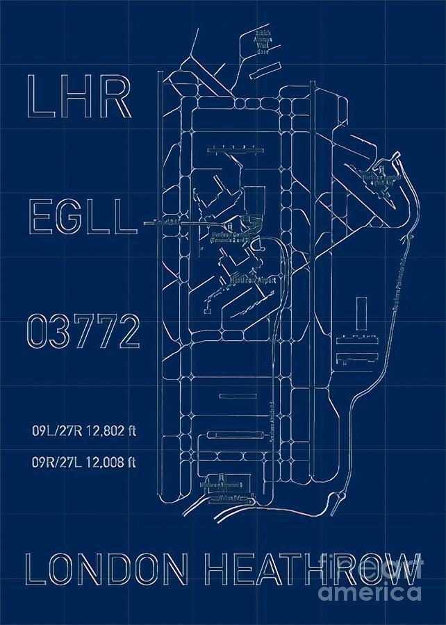 LHR London Heathrow Blueprint Light by HELGE