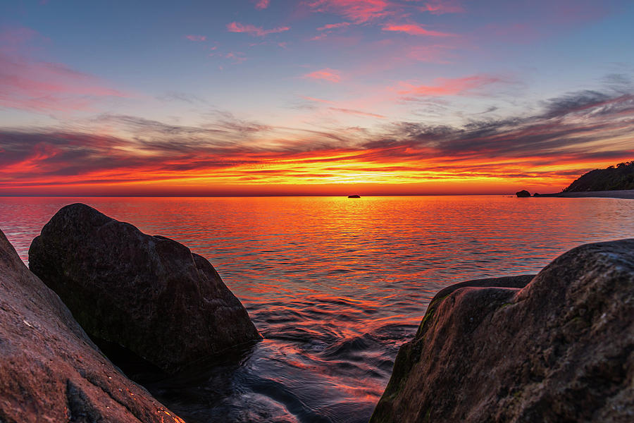 LI Sound Sunrise by Samantha Kennedy