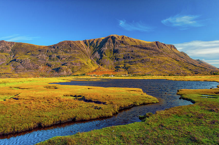 Highlands Photograph - Liathach and Torridon village by David Ross