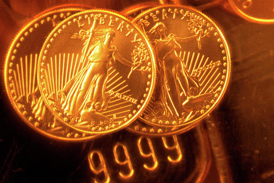 Liberty Gold Coins Photograph by Lyle Leduc