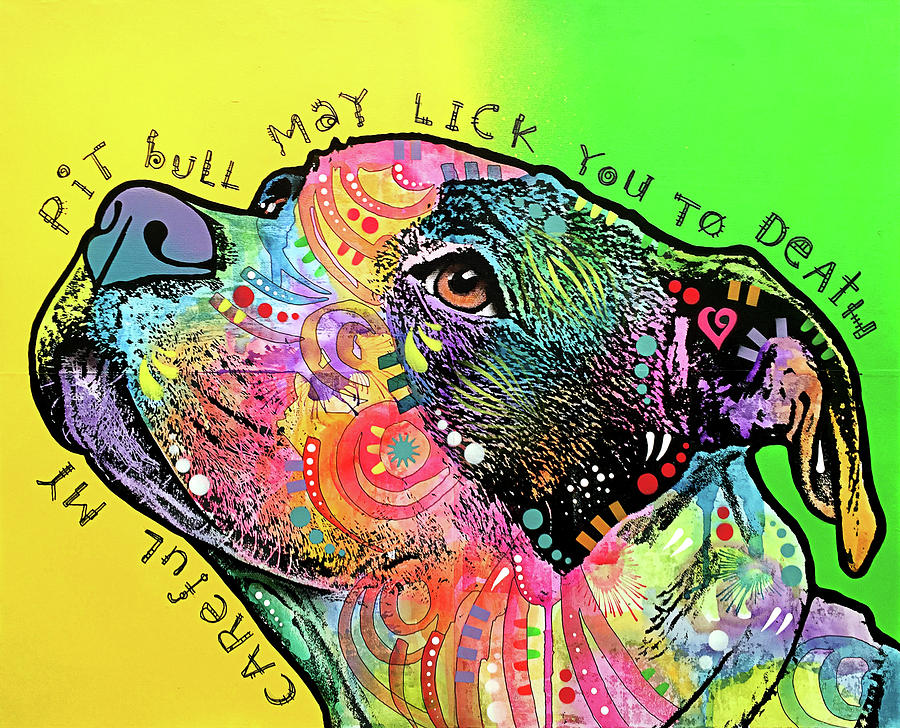 Pups Mixed Media - Lick You To Death by Dean Russo