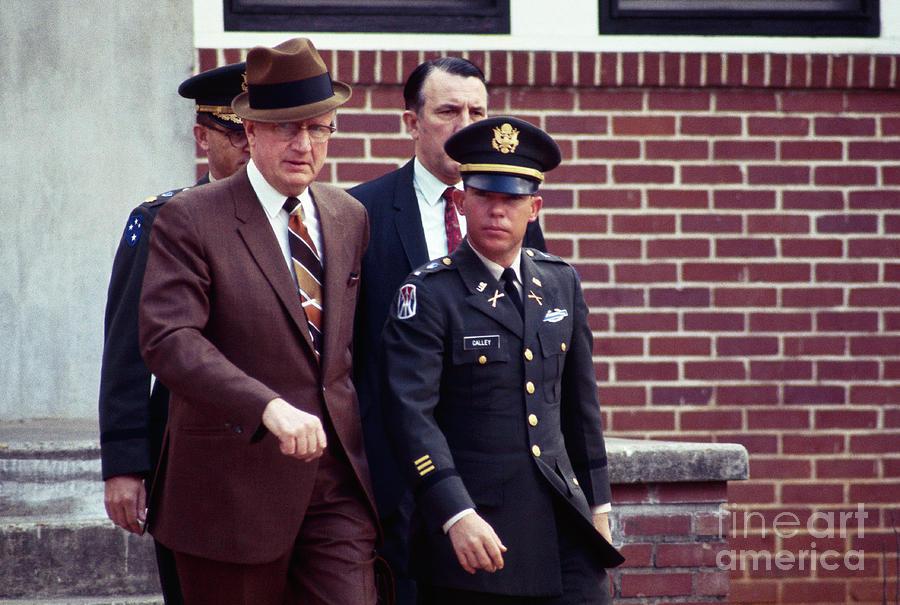 Lieutenant Calley Leaving Court Photograph by Bettmann