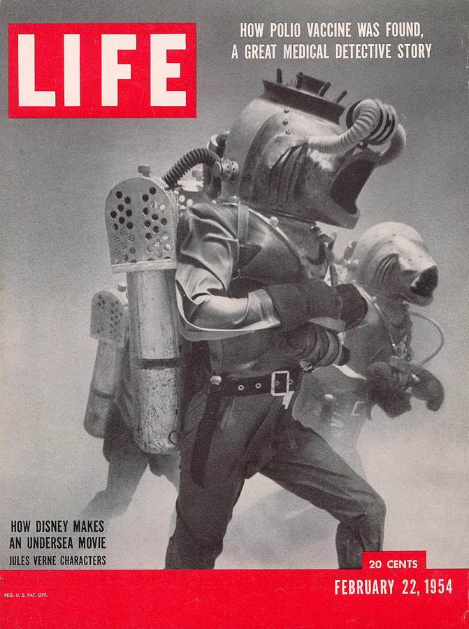 Life Cover 02-22-1954 Underwater Shot Photograph by Peter Stackpole