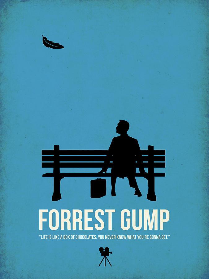 Forest Gump Digital Art - Life Is Like A Box Of Chocolates I by Naxart Studio