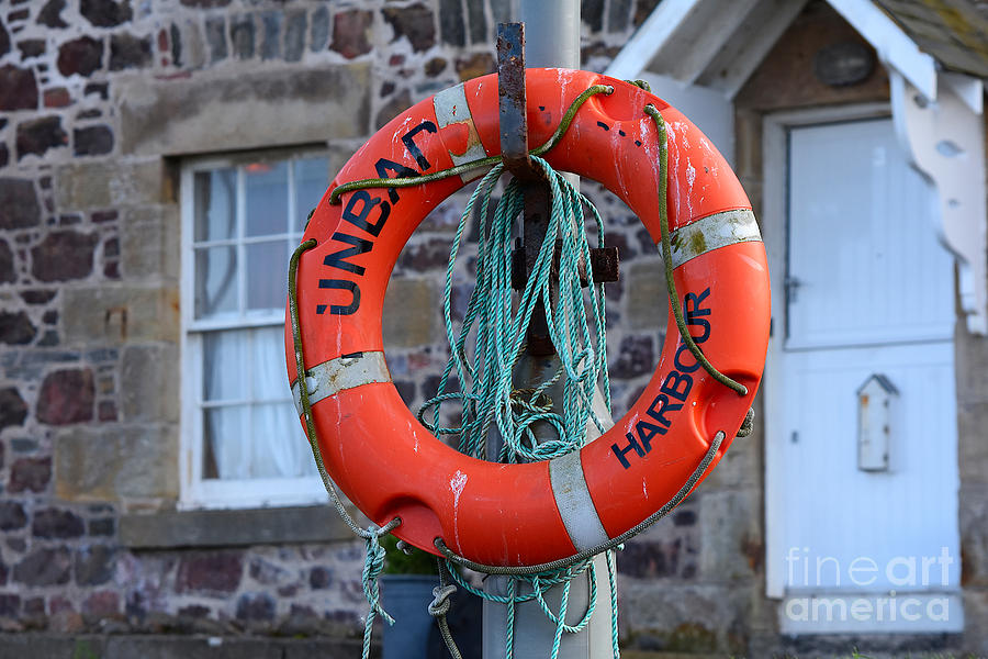 Lifebuoy and Rope by Yvonne Johnstone