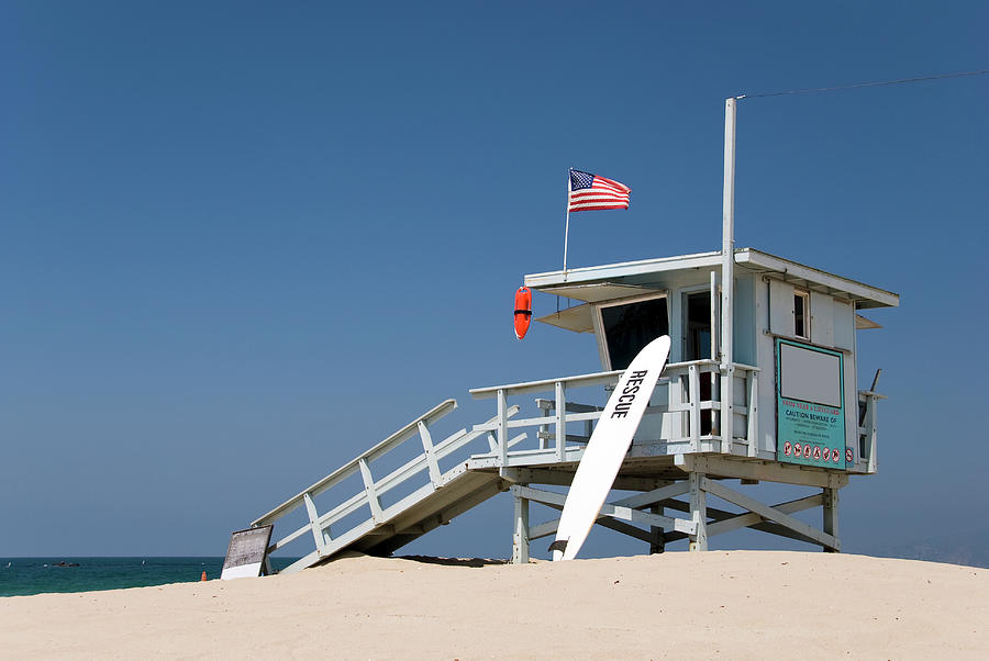 Lifeguard Station At The Beach Photograph by Frankvandenbergh