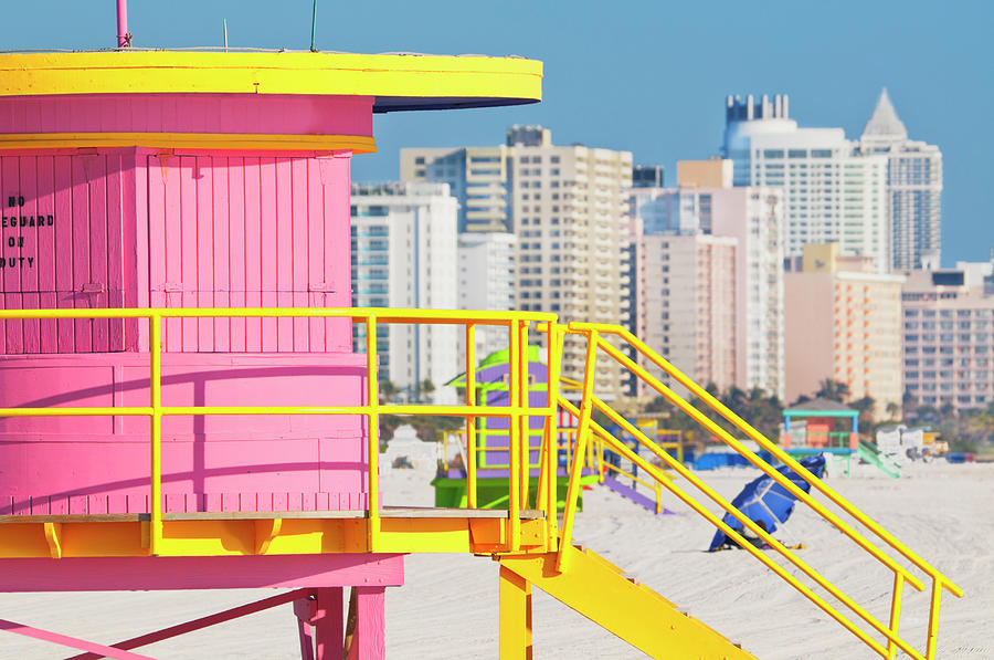 Lifeguard Station On South Beach Photograph by Mitchell Funk