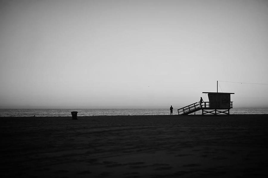 Lifeguard Tower In Santa Monica Photograph by Stephen Albanese