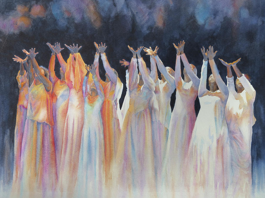 Inspiration Painting - Lifted in Praise by Suzanne Accetta